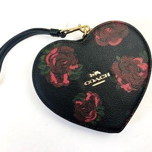 ♥️ RARE! COACH Heart Shape Floral Limited Edition!
